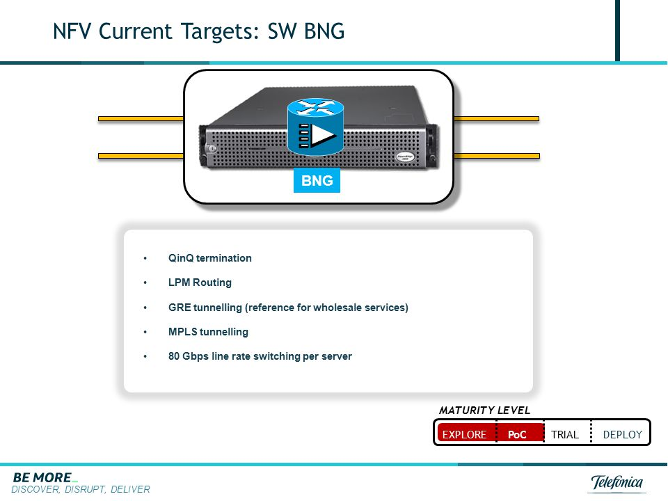 NFV Current Targets: SW BNG