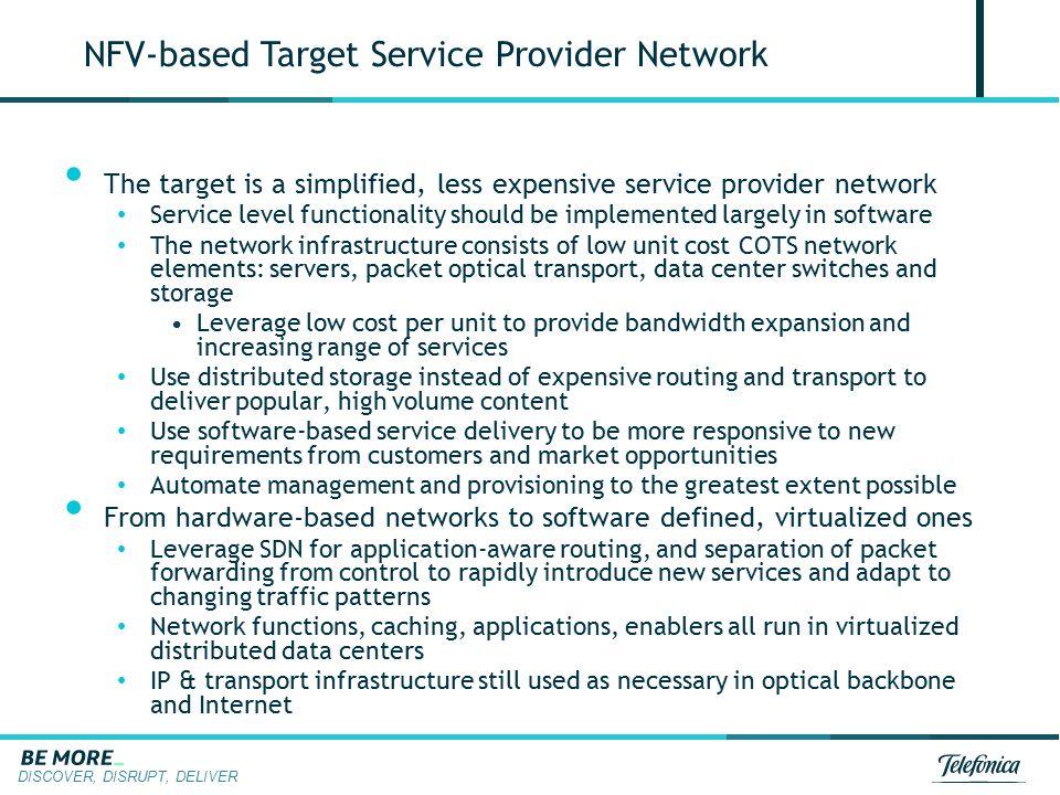 NFV-based Target Service Provider Network