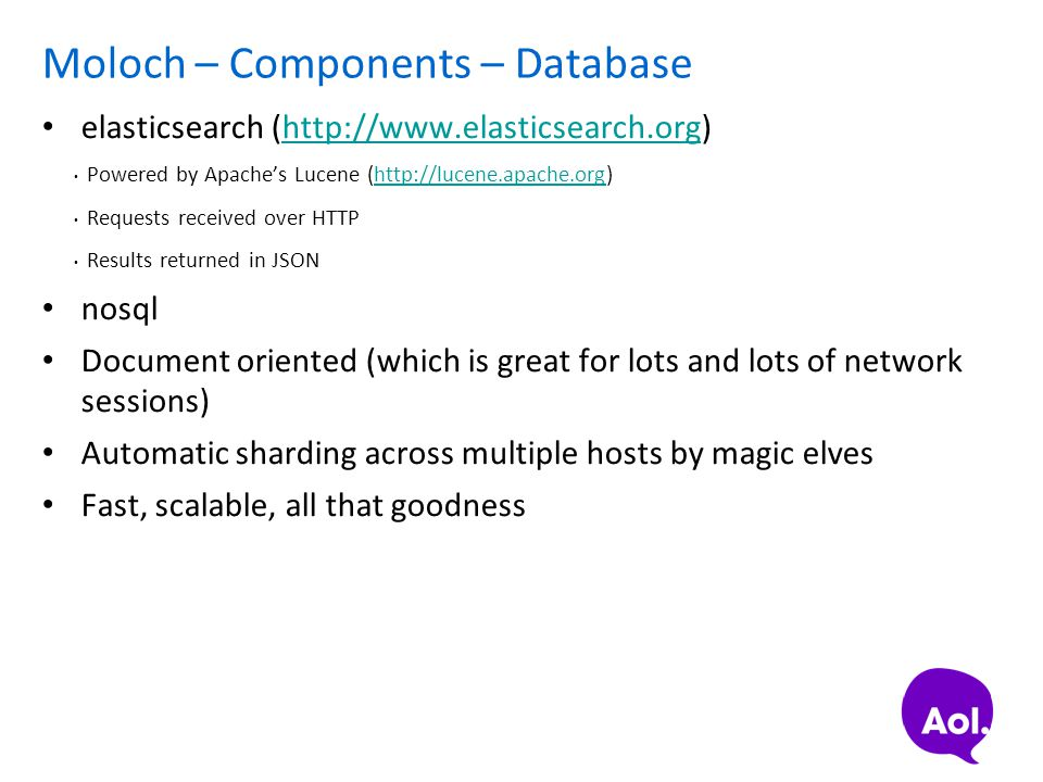 Moloch – Components – Database
