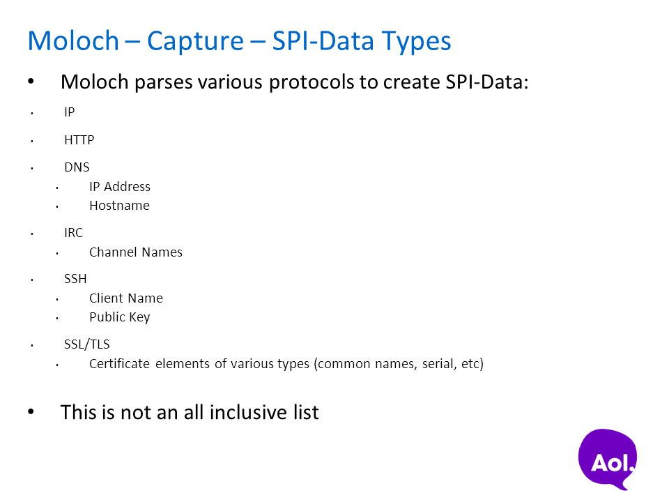 Moloch – Capture – SPI-Data Types