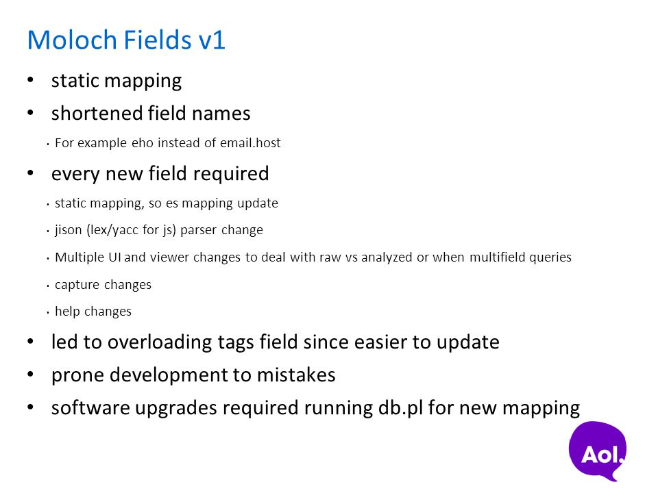 Moloch Fields v1 static mapping shortened field names