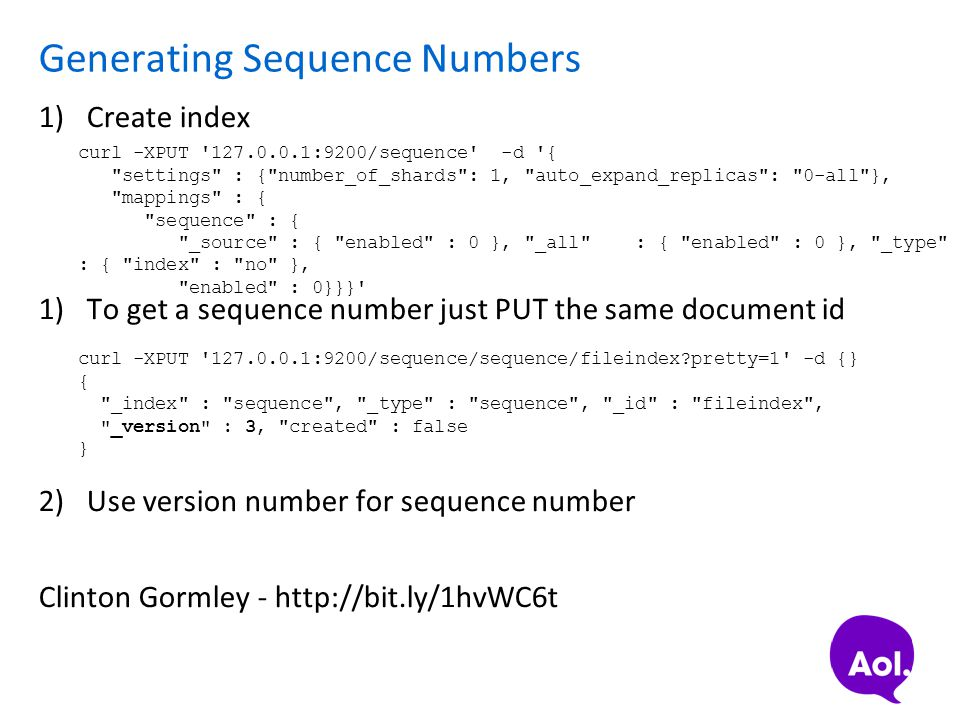 Generating Sequence Numbers