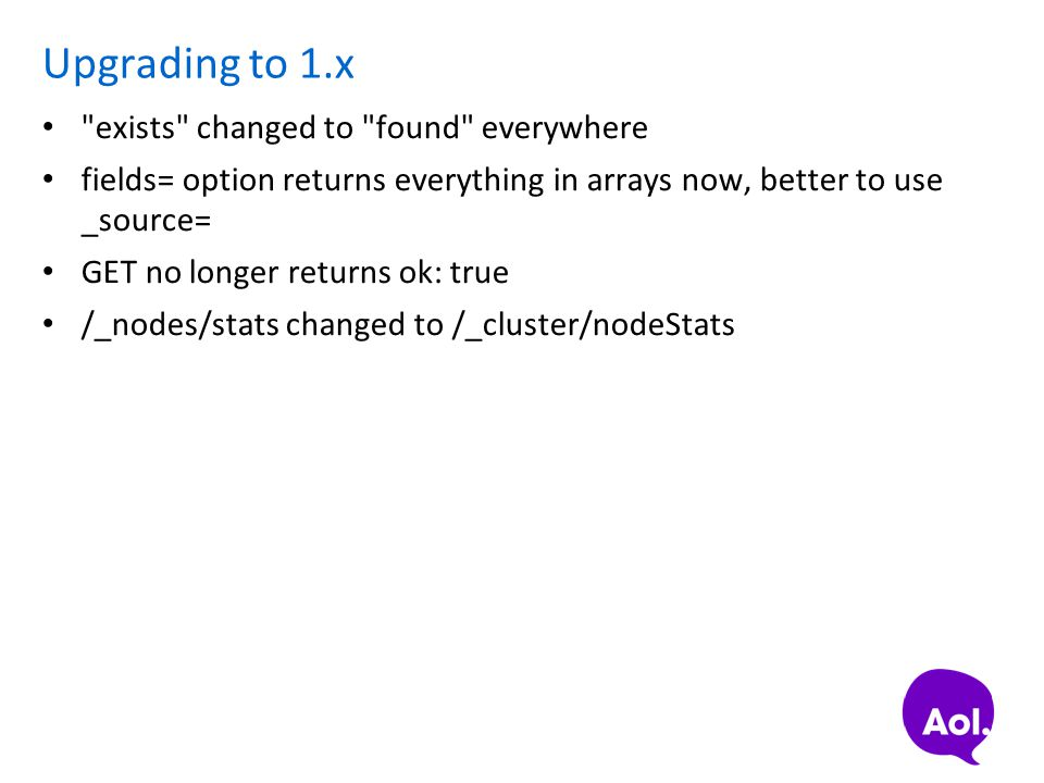 Upgrading to 1.x exists changed to found everywhere