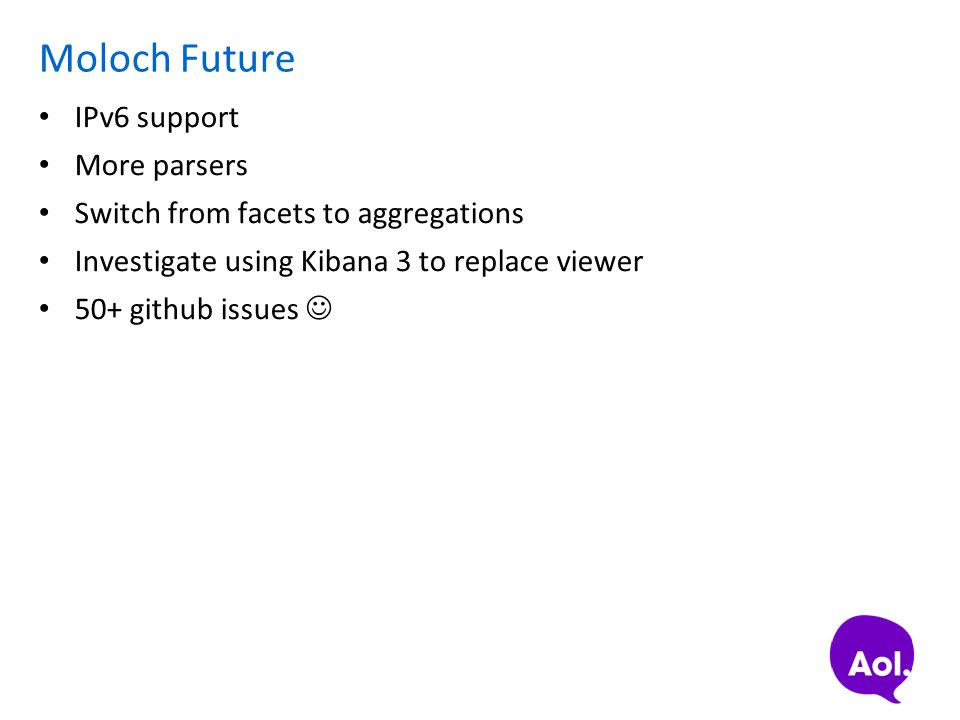 Moloch Future IPv6 support More parsers