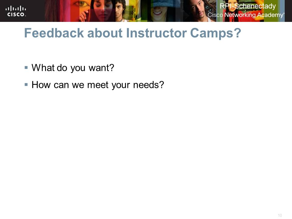 Feedback about Instructor Camps