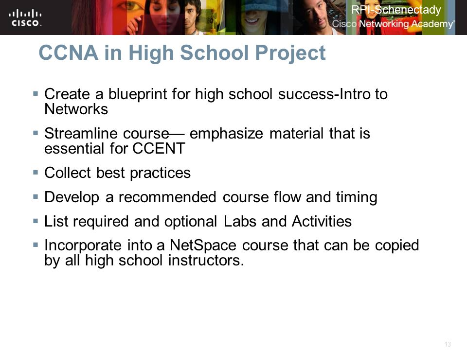 CCNA in High School Project