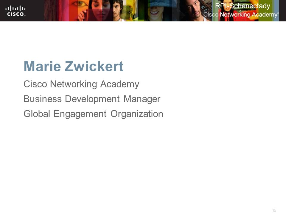 Marie Zwickert Cisco Networking Academy Business Development Manager
