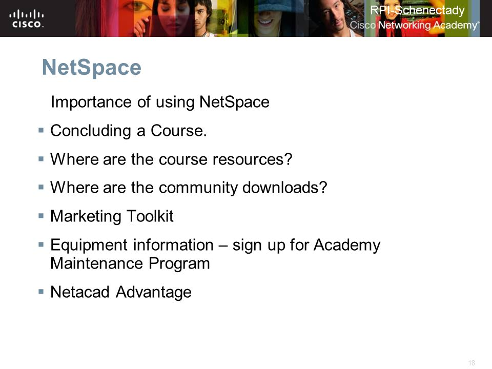 NetSpace Importance of using NetSpace Concluding a Course.