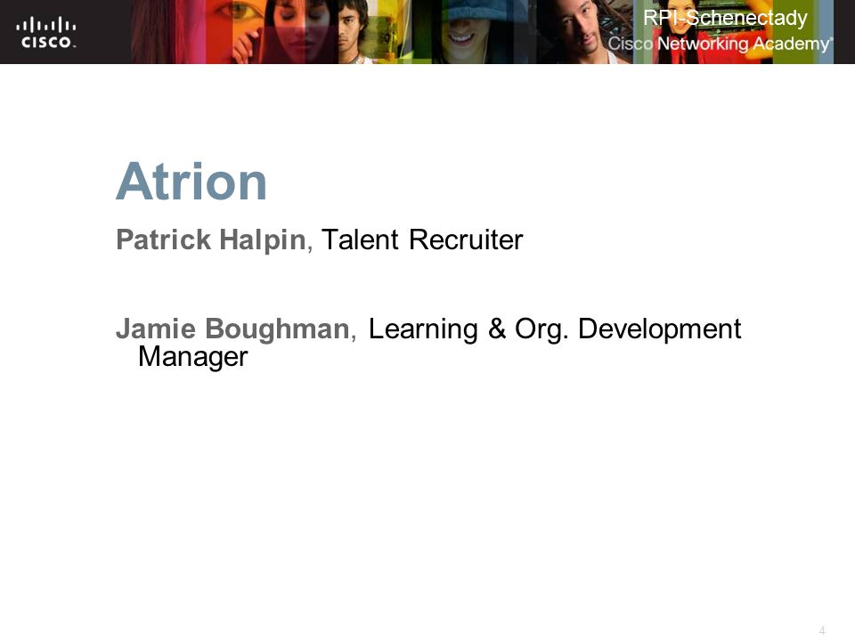 Atrion Patrick Halpin, Talent Recruiter