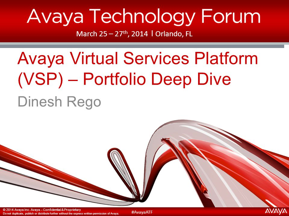 Avaya Virtual Services Platform (VSP) – Portfolio Deep Dive
