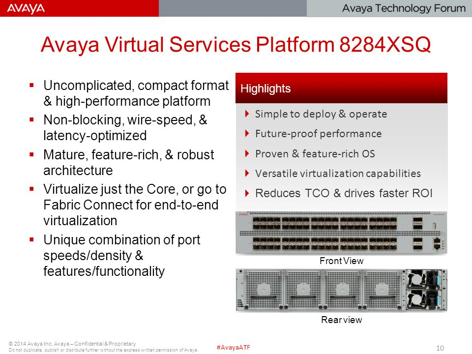 Avaya Virtual Services Platform 8284XSQ