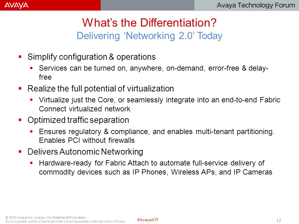 What's the Differentiation Delivering 'Networking 2.0' Today