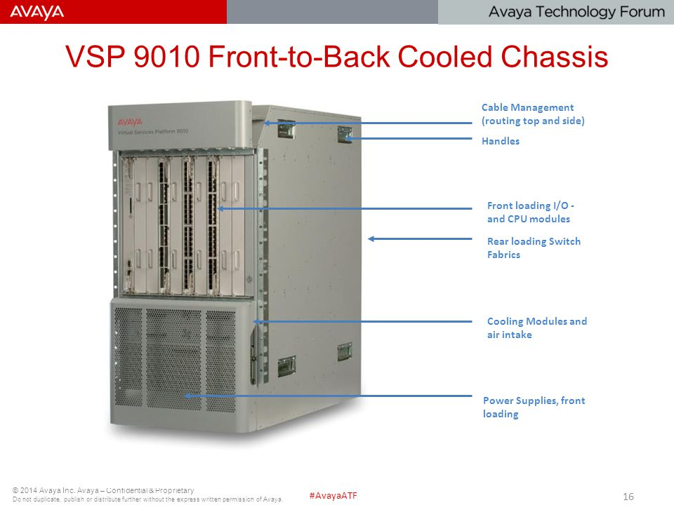 VSP 9010 Front-to-Back Cooled Chassis
