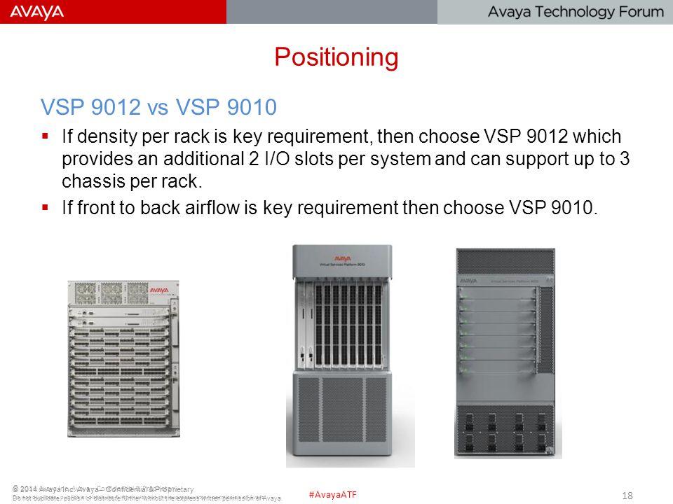 Positioning VSP 9012 vs VSP 9010.