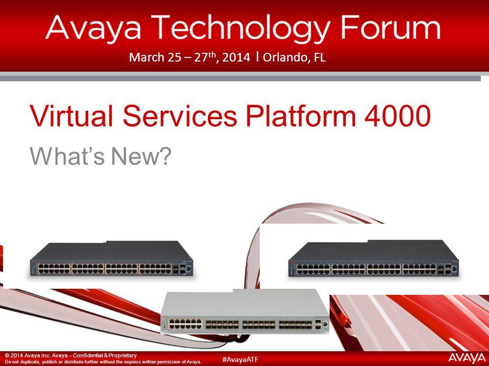 Virtual Services Platform 4000