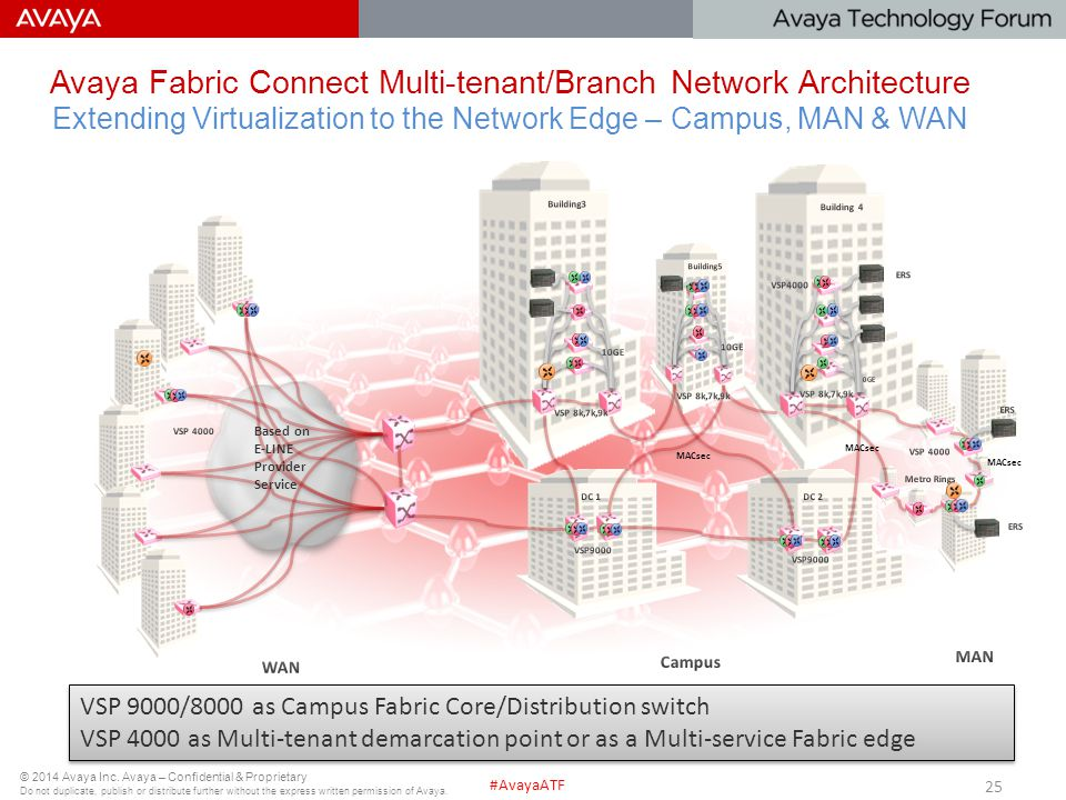 Avaya Fabric Connect Multi-tenant/Branch Network Architecture Extending Virtualization to the Network Edge – Campus, MAN & WAN
