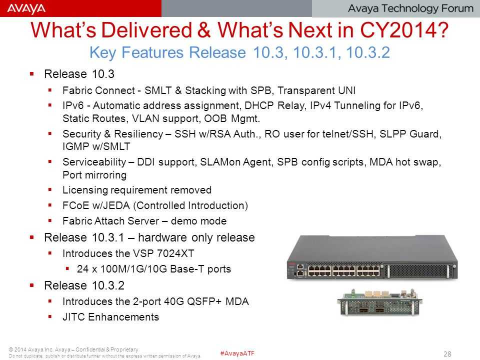 What's Delivered & What's Next in CY2014. Key Features Release 10