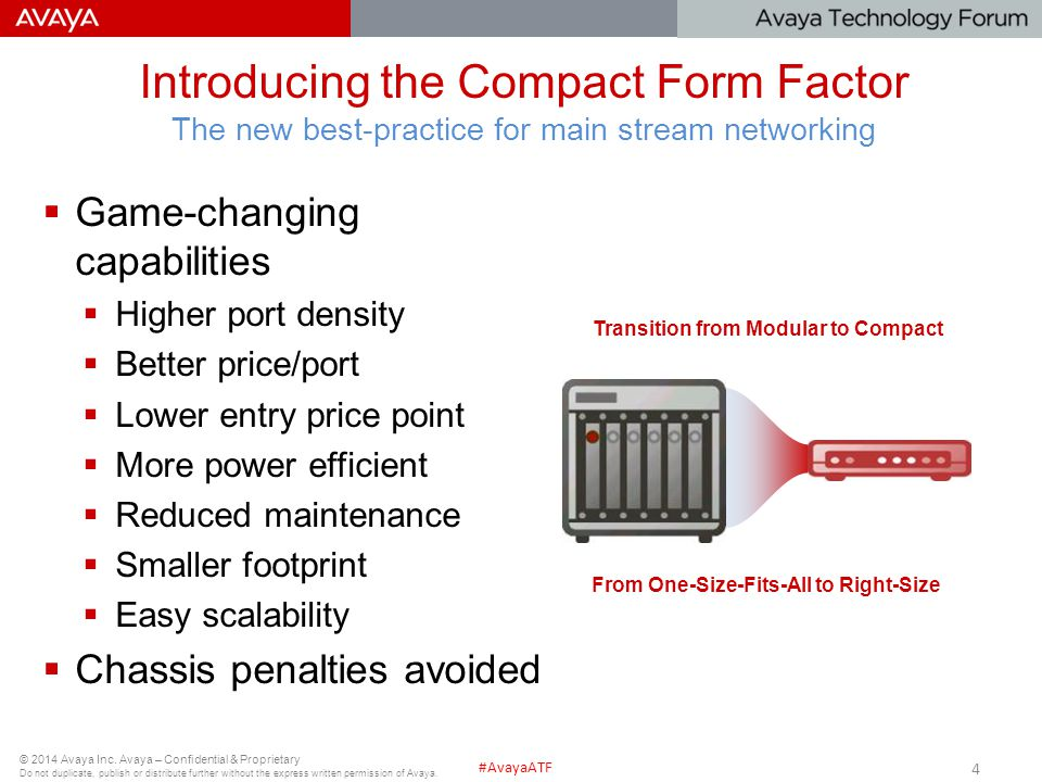 Introducing the Compact Form Factor The new best-practice for main stream networking