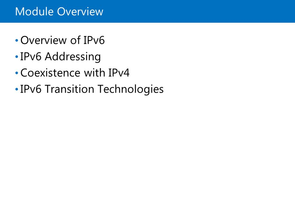 IPv6 Transition Technologies