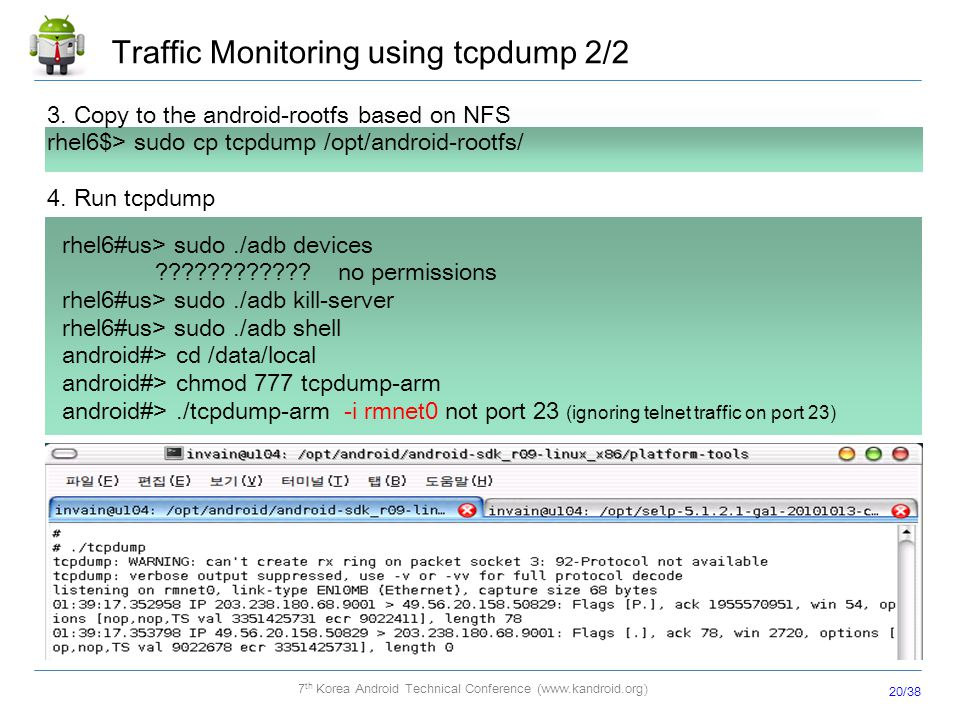 Traffic Monitoring using tcpdump 2/2