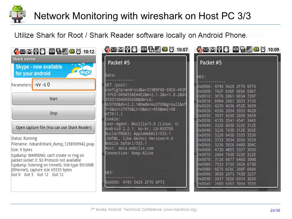 Network Monitoring with wireshark on Host PC 3/3