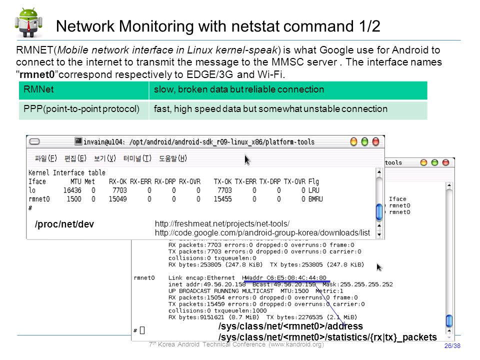 Network Monitoring with netstat command 1/2
