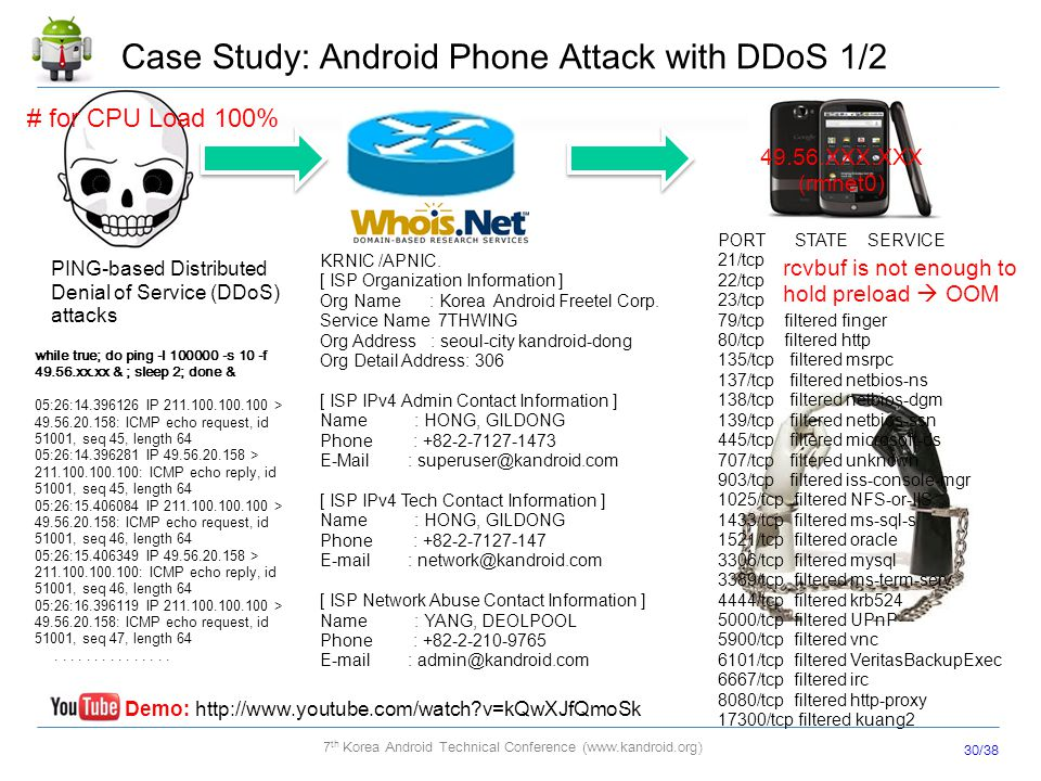 Case Study: Android Phone Attack with DDoS 1/2