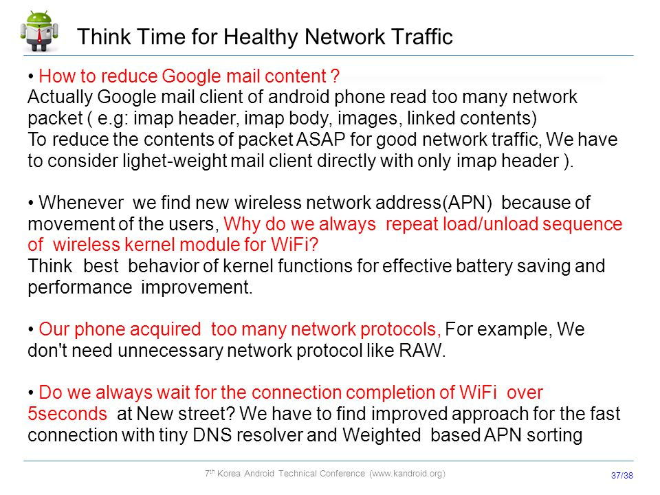 Think Time for Healthy Network Traffic