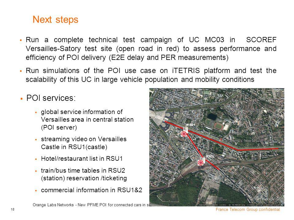 Next steps POI services: