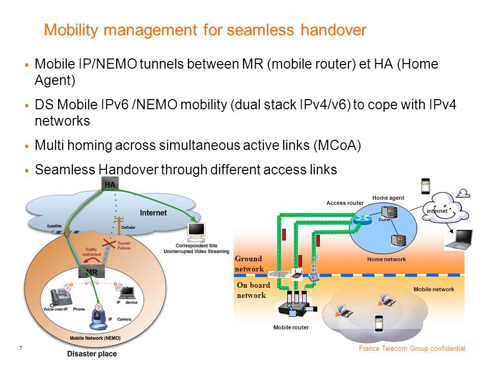 Mobility management for seamless handover