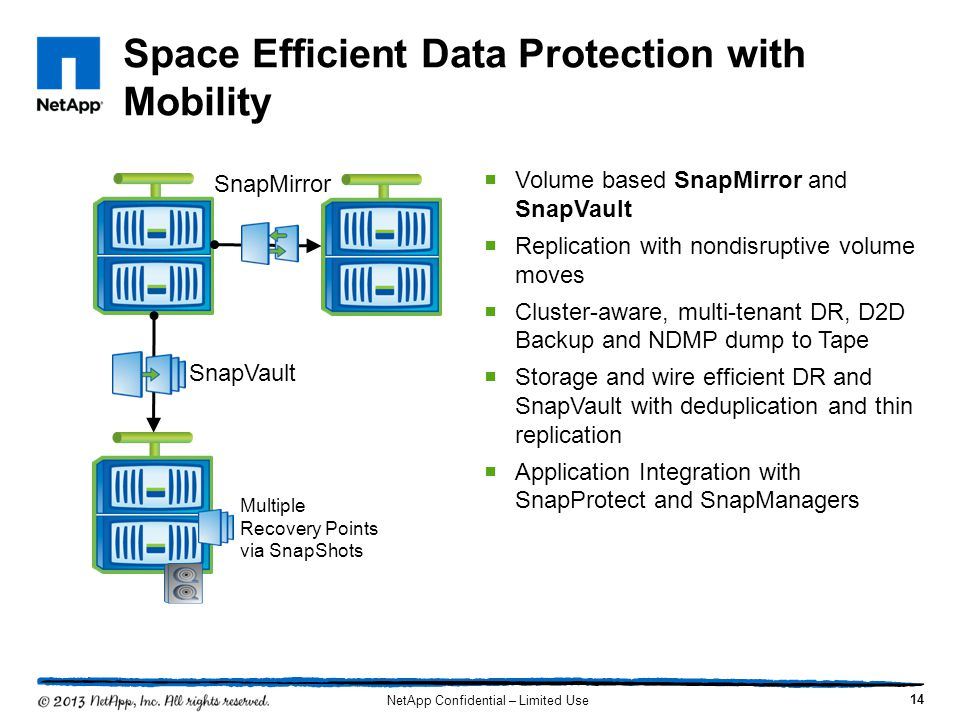 Space Efficient Data Protection with Mobility