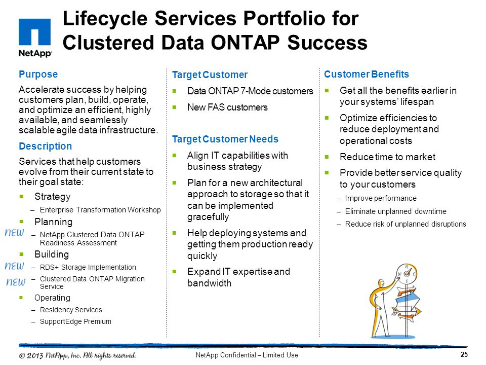 Lifecycle Services Portfolio for Clustered Data ONTAP Success