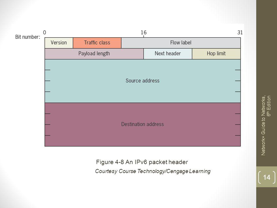 Figure 4-8 An IPv6 packet header