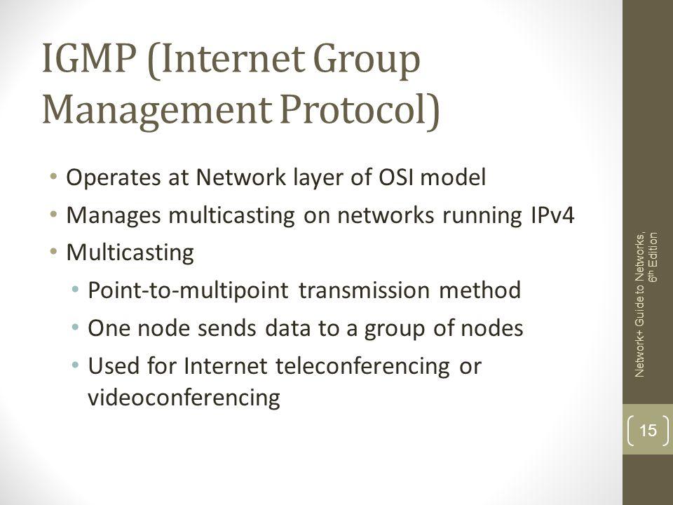 IGMP (Internet Group Management Protocol)