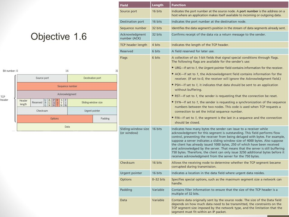 Objective 1.6 Network+ Guide to Networks, 6th Edition