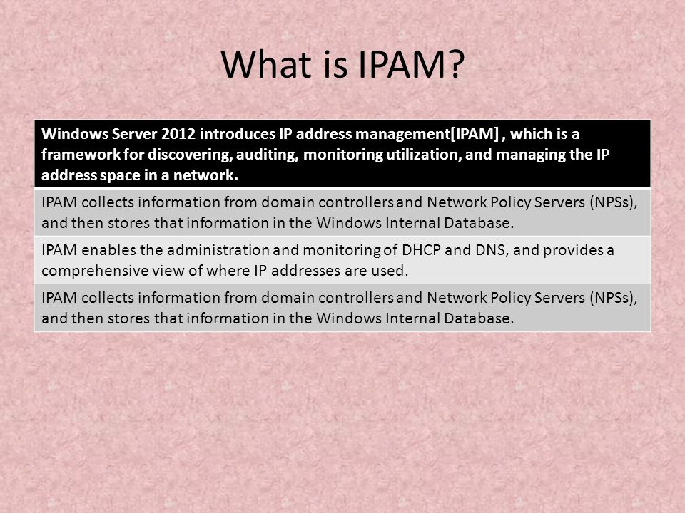 What is IPAM