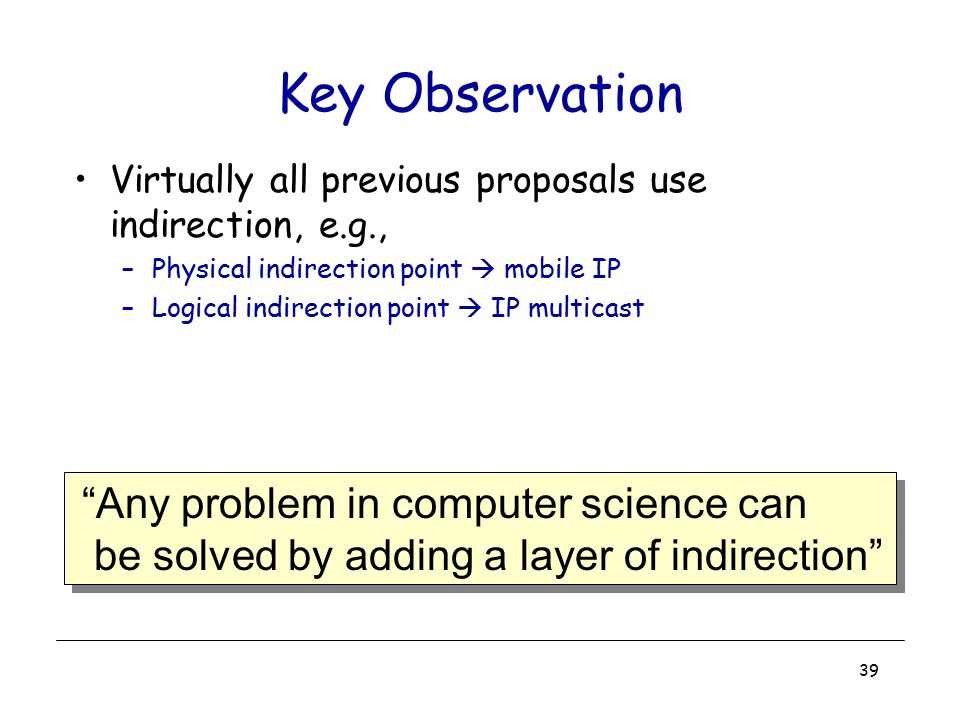 Key Observation Any problem in computer science can