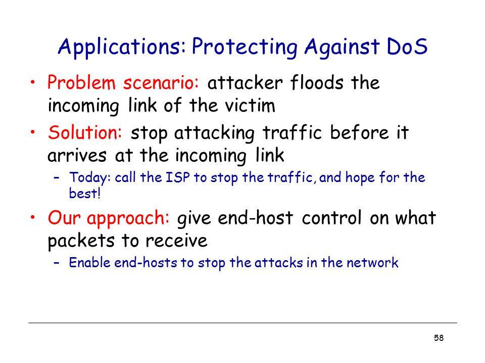 Applications: Protecting Against DoS