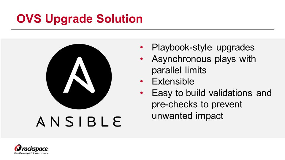OVS Upgrade Solution Playbook-style upgrades