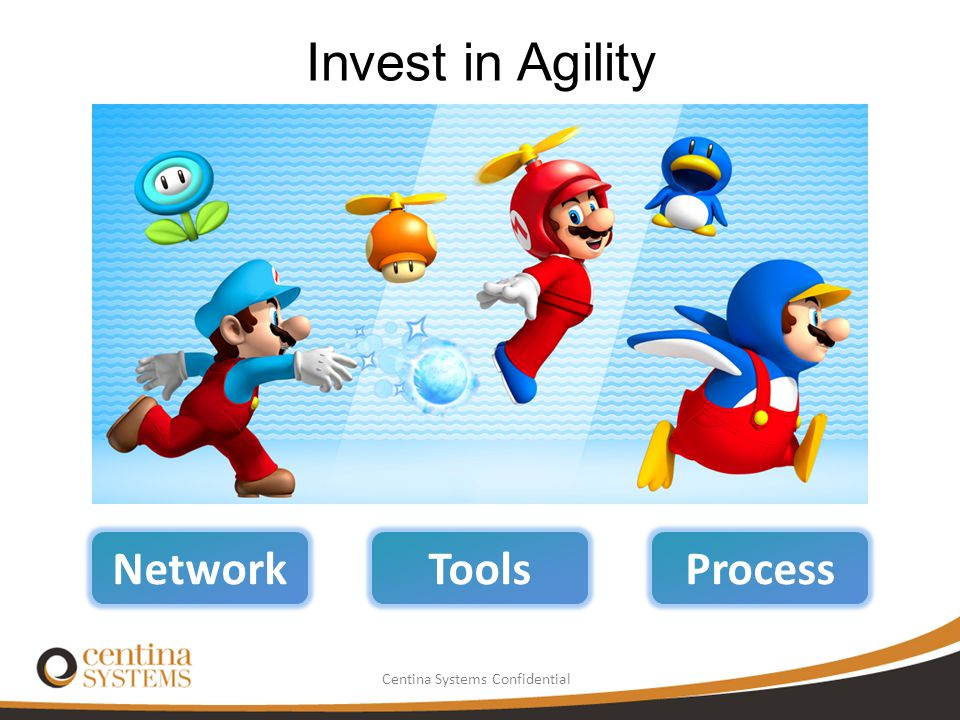Invest in Agility Network Tools Process Consolidate