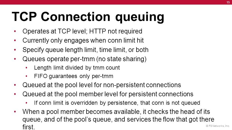 TCP Connection queuing