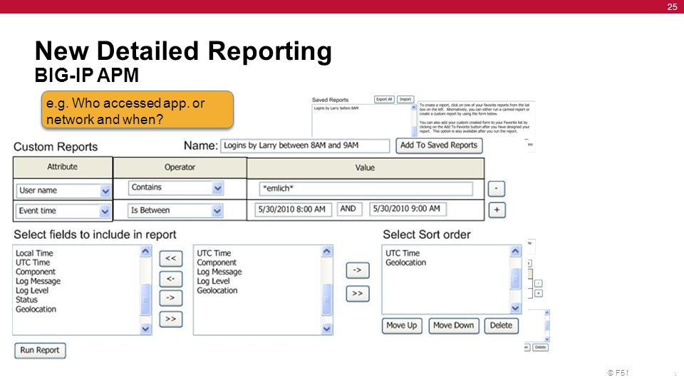 New Detailed Reporting BIG-IP APM