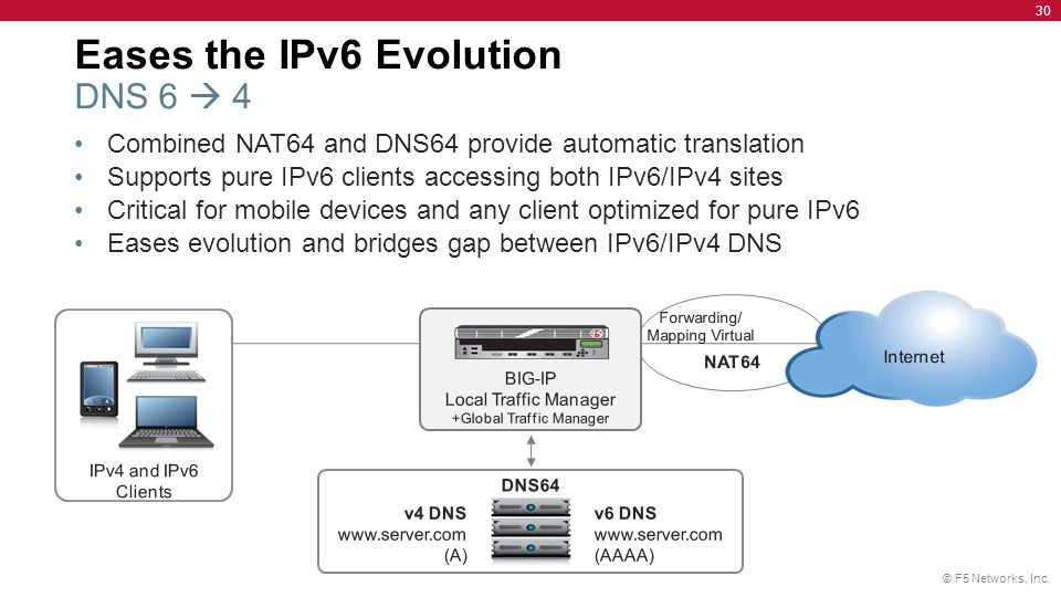 Eases the IPv6 Evolution DNS 6  4