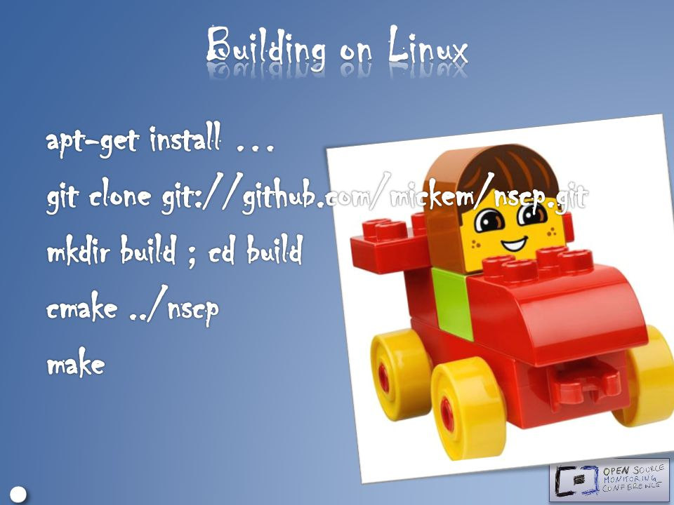 Building on Linux ∘ • apt-get install …