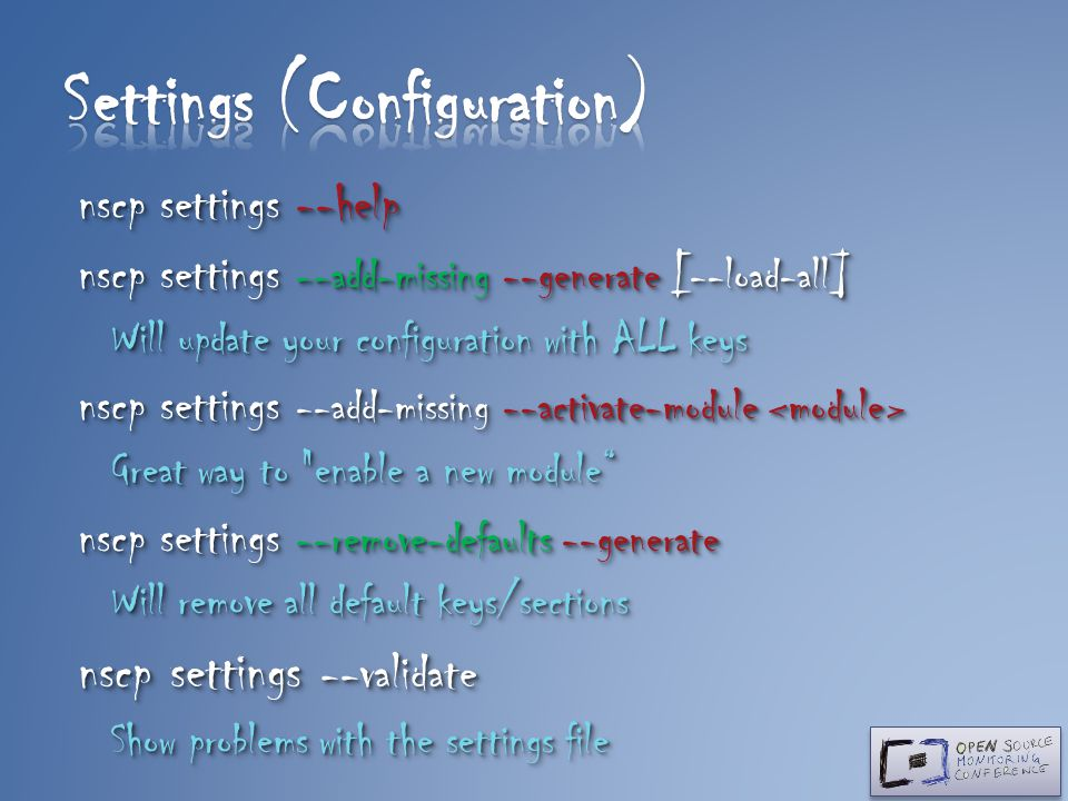 Settings (Configuration)