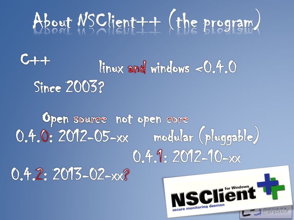 About NSClient++ (the program)