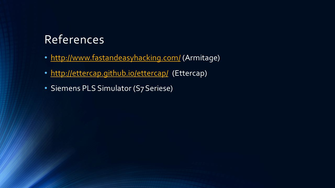 References http://www.fastandeasyhacking.com/ (Armitage)