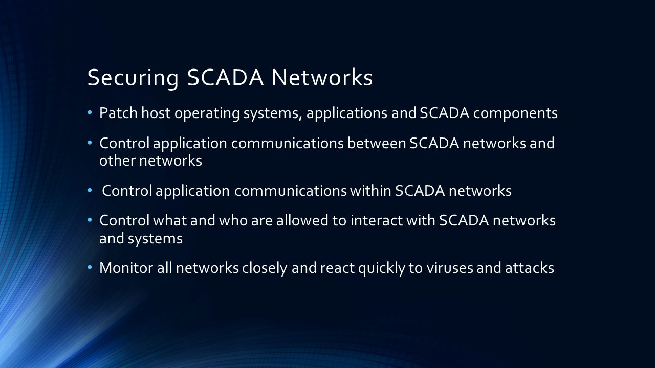 Securing SCADA Networks