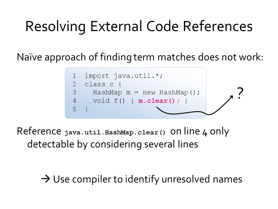 Resolving External Code References