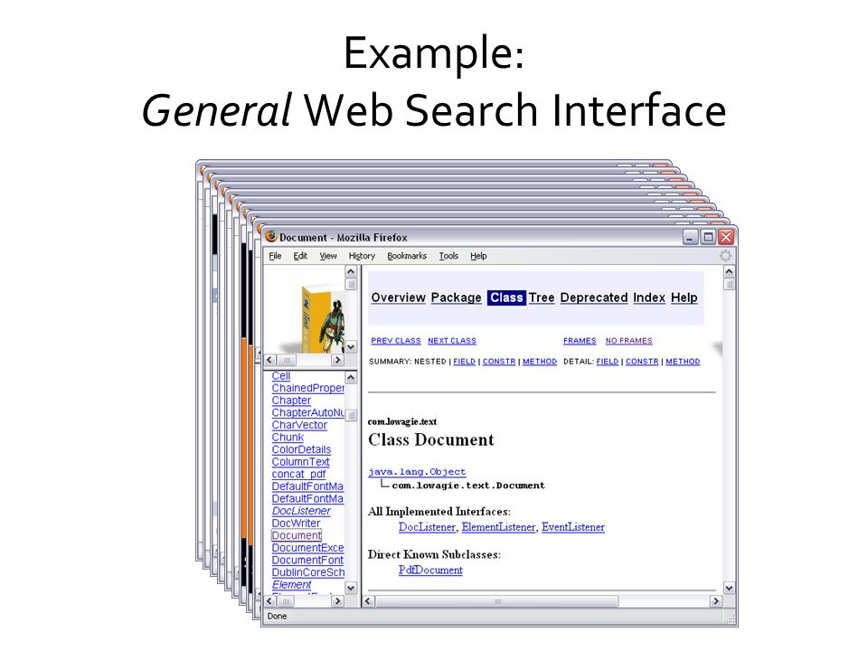 Example: General Web Search Interface